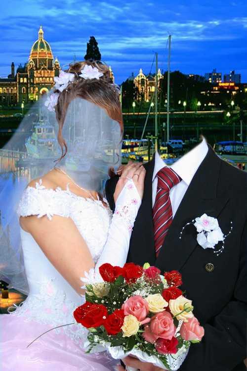 Вставить свое фото в картинку свадебную онлайн